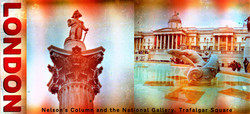 Postcard: Nelson's Column and the National Gallery Trafalgar Square, London