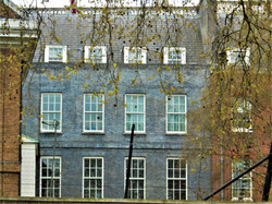 Rear of Downing Street from Horse Guards Parade, Whitehall Pl, Westminster, London