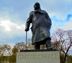 Statue of Winston Churchill, Parliament Square London - Image: Edward Arnold