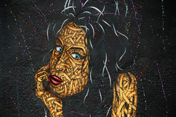 Mural of Singer and songwriter Amy Winehouse in Camden Town, London