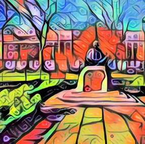 Tavistock Square Gardens Gandhi statue.j
