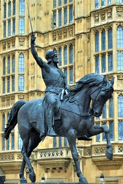 Statue of Richard I of England, Old Palace Yard, Palace of Westminster, London