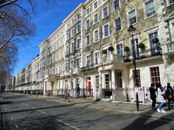 Gordon Square, a focal point of the Bloo