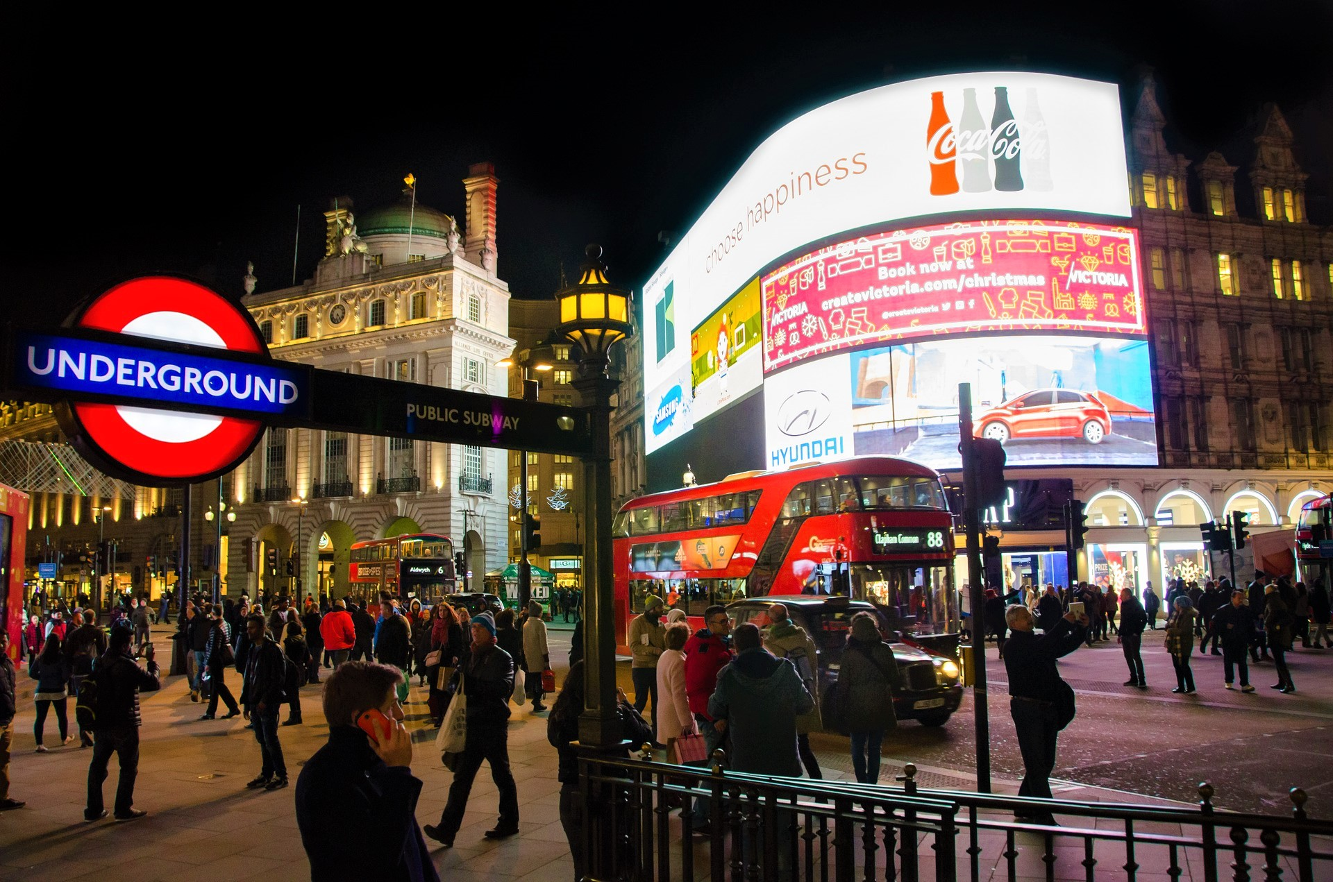Piccadilly Circus London at Night