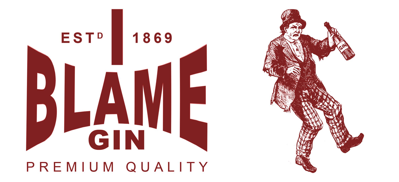 I Blame Gin - Postcard Camden Town gin distilleries by Edward Arnold