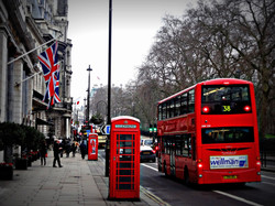 A London Street Phone Box and Red Bus