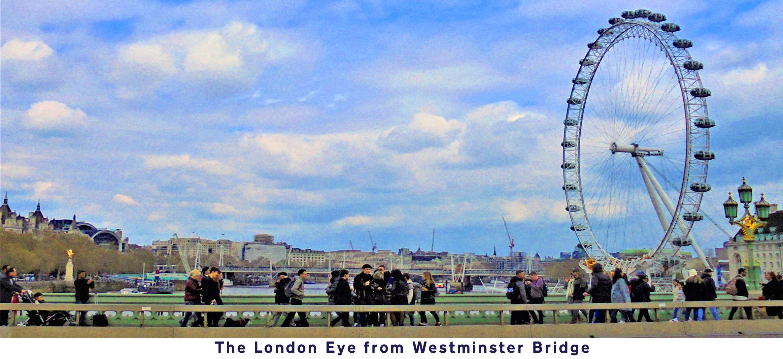Postcard: River Thames and the London Eye