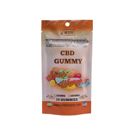 Sour Worms - 500mg