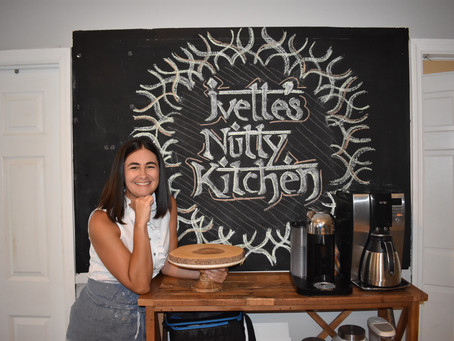 Three Cakes, Two Ovens, and a Ladder: A Story About Ivette's Nutty Kitchen