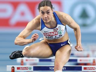 Championnats d'Europe 2021 (1/5): Holly MILLS (GBR) réalise le meilleur temps sur 60m haies.