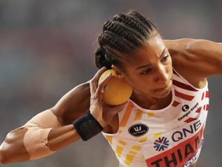 DOHA 2019 - Lancer du poids (3/7) : N. THIAM (BEL) l'emporte avec 15,22 m !
