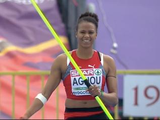 BYDGOSZCZ 2017: Caroline AGNOU championne d'Europe espoirs bat le record de SUISSE avec 6 330 pts !