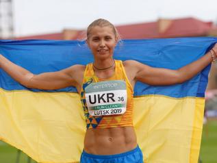 Daryna SLOBODA (UKR) réalise 6 165 points lors de la Coupe d'Europe des épreuves combinées.