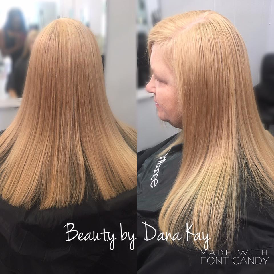 blunt cut blonde