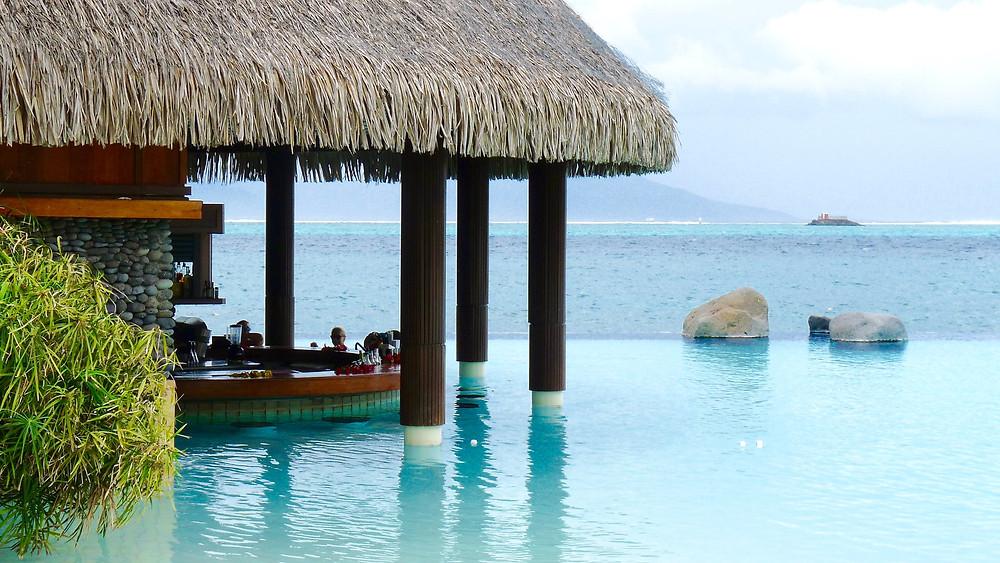 Swim-up Bar at the Tahiti InterContinental