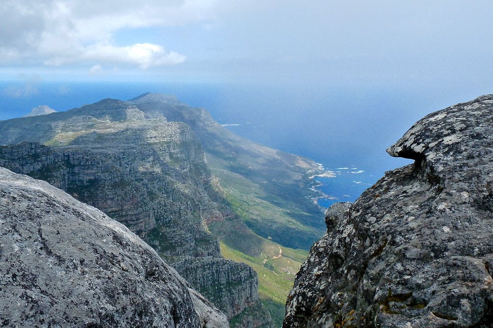 Rugged beauty of Table Mountain and the  Cape Town Coastline