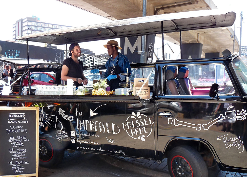 Food truck at Maboneng, in Johannesburg