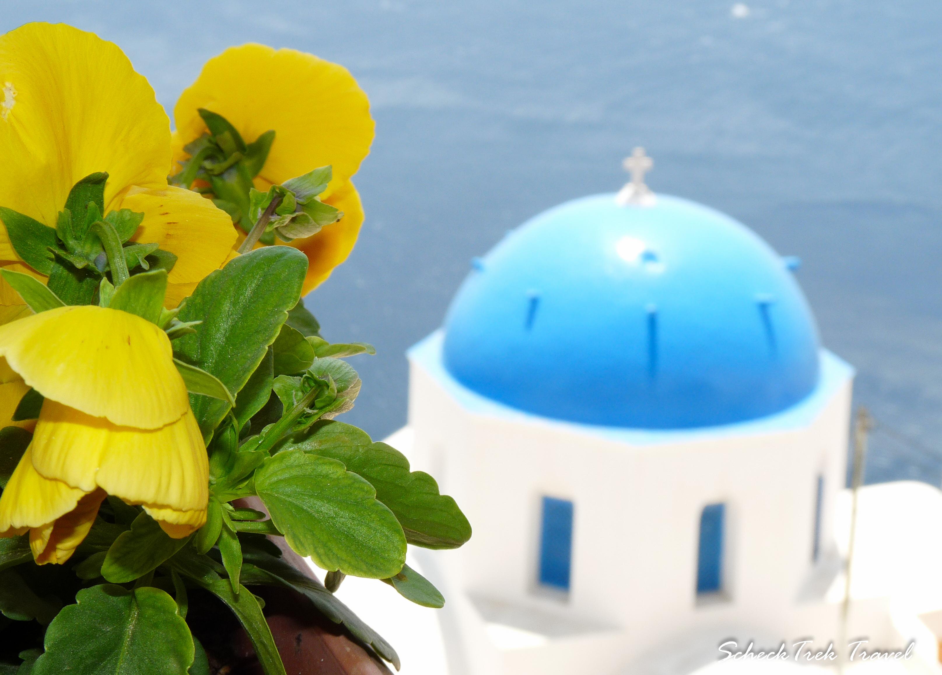 Santorini's Famous Blue Dome