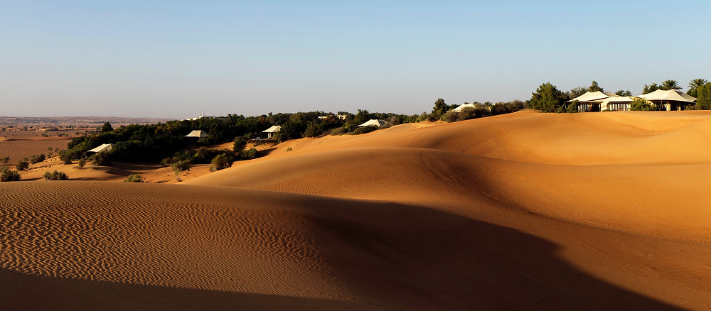 Luxury tents dot the dunes at Al Maha Resort in Dubai