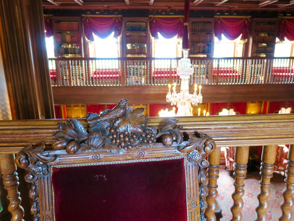 Ashford Castle's Oak Hall library
