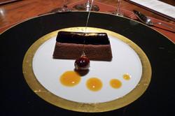 Gold Leaf Garnish on the Dessert