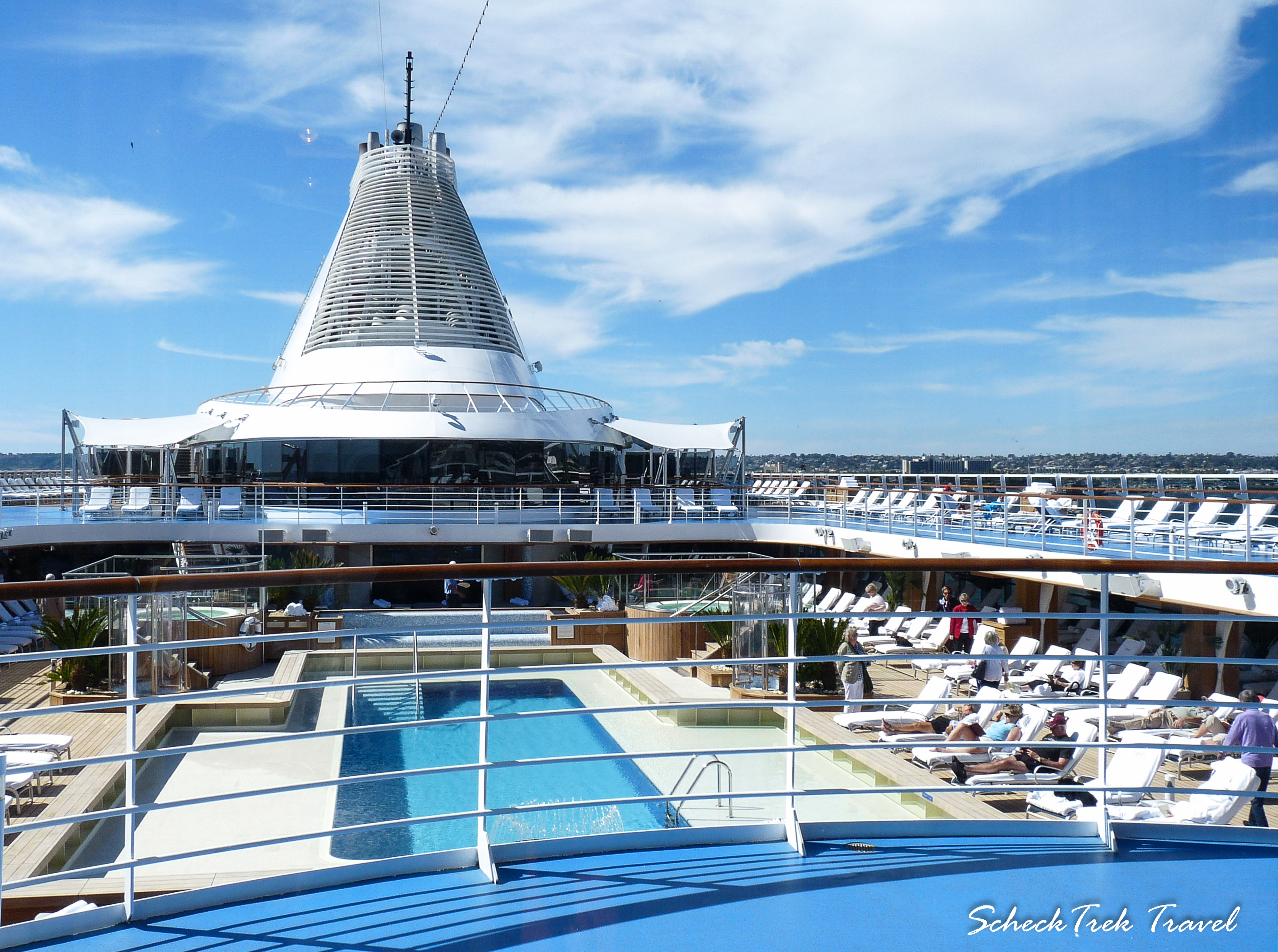 Pool deck on Marina