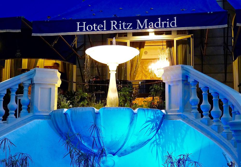 The Ritz Garden for alfresco dining, Madrid