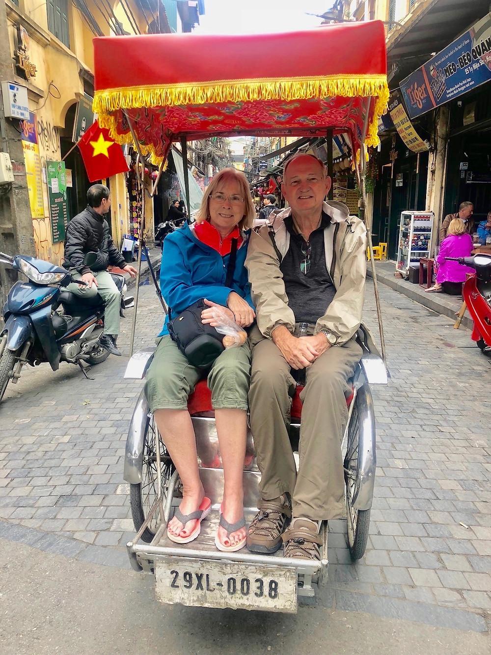 Pedi-cab in street of Hanoi, Vietnam