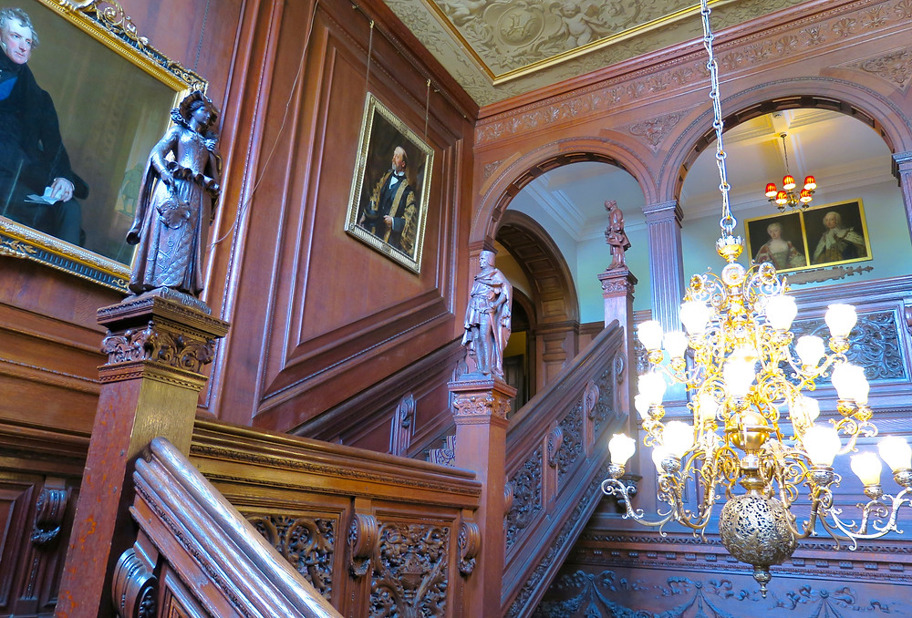 Carved staircase at Cliveden House