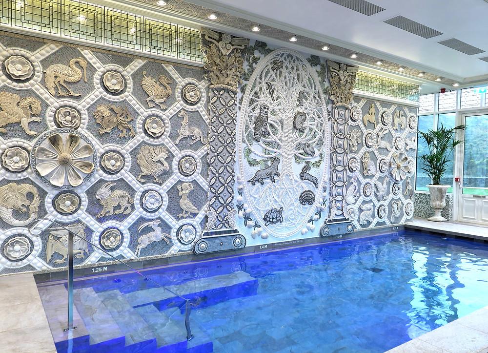 Spa mural & pool at Ashford Castle