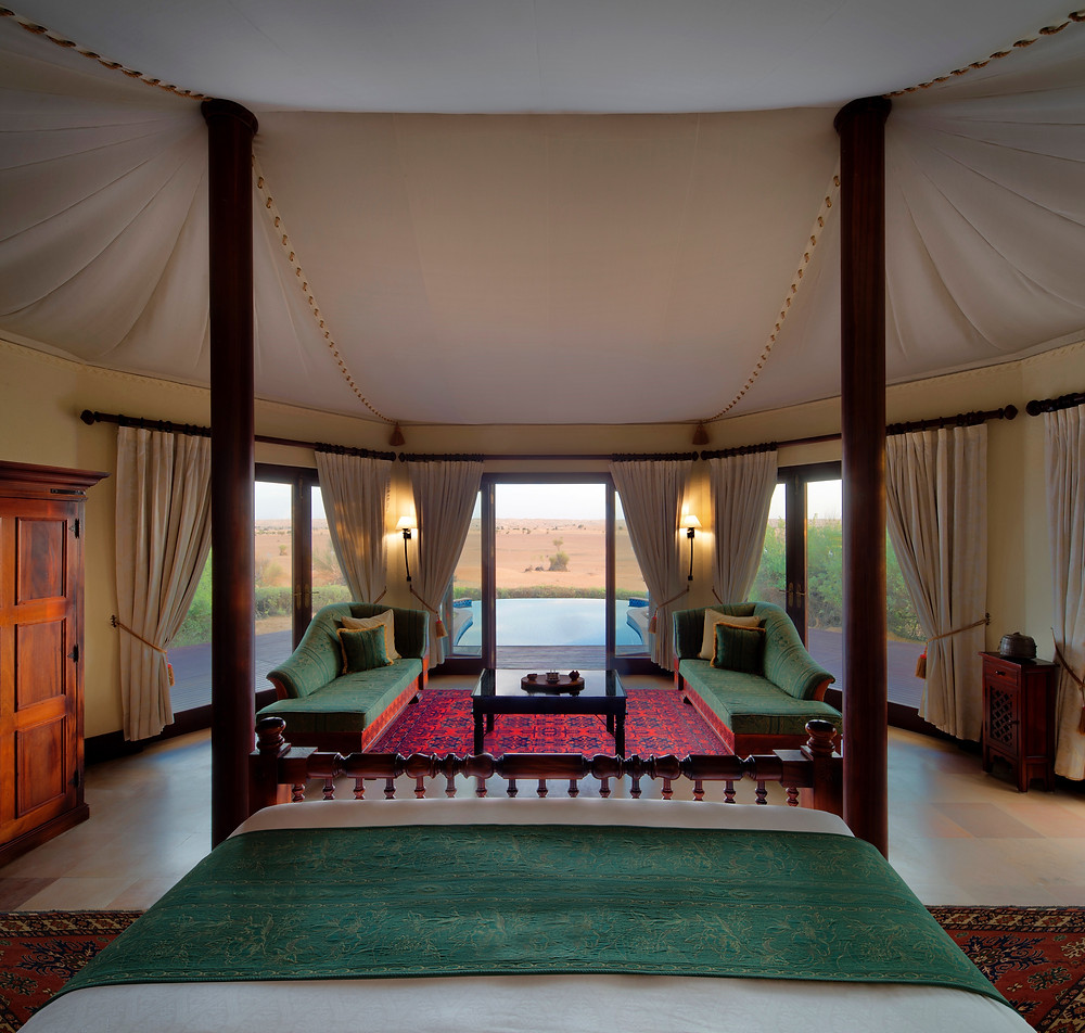Interior of 800 s/f luxury tent at Al Maha, in Dubai