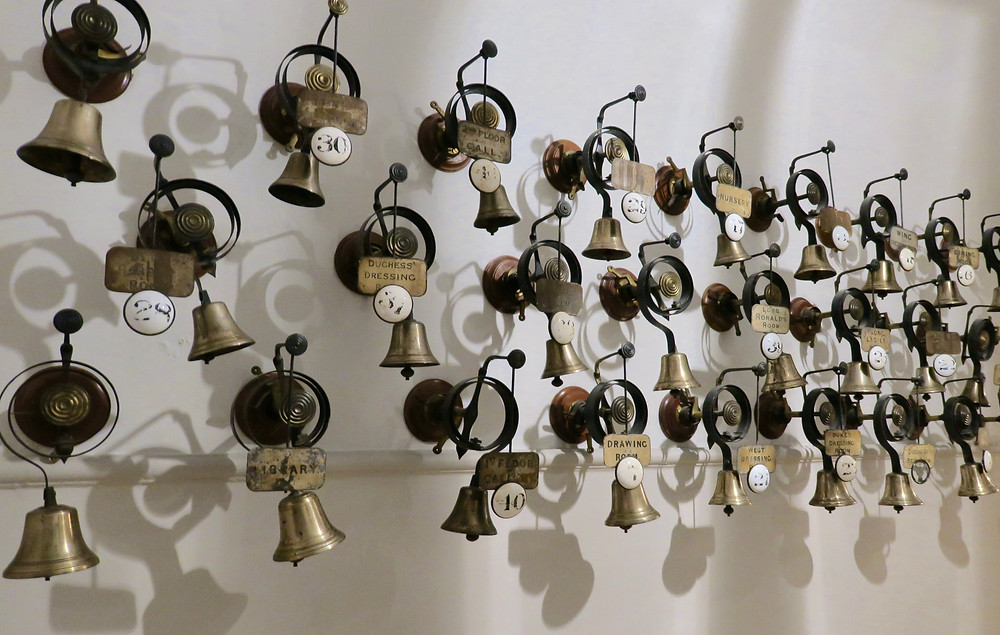 Bells to ring the servants at Cliveden House