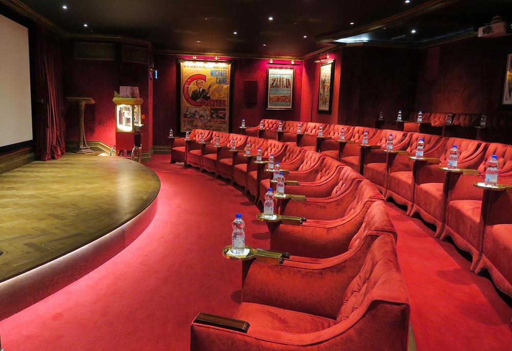 Ashford Castle's cinema theater