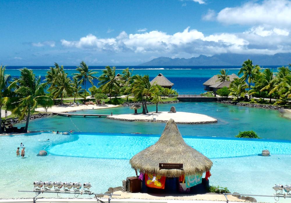 Pool & Lagoon at the Tahiti InterContinental