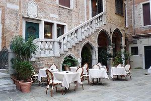 travel photo of European courtyard