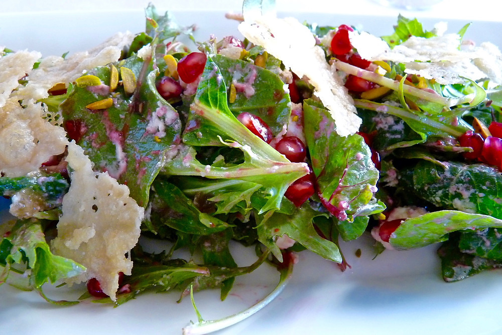 Pomegranate salad at Al Diwaan Restaurant, Al Maha