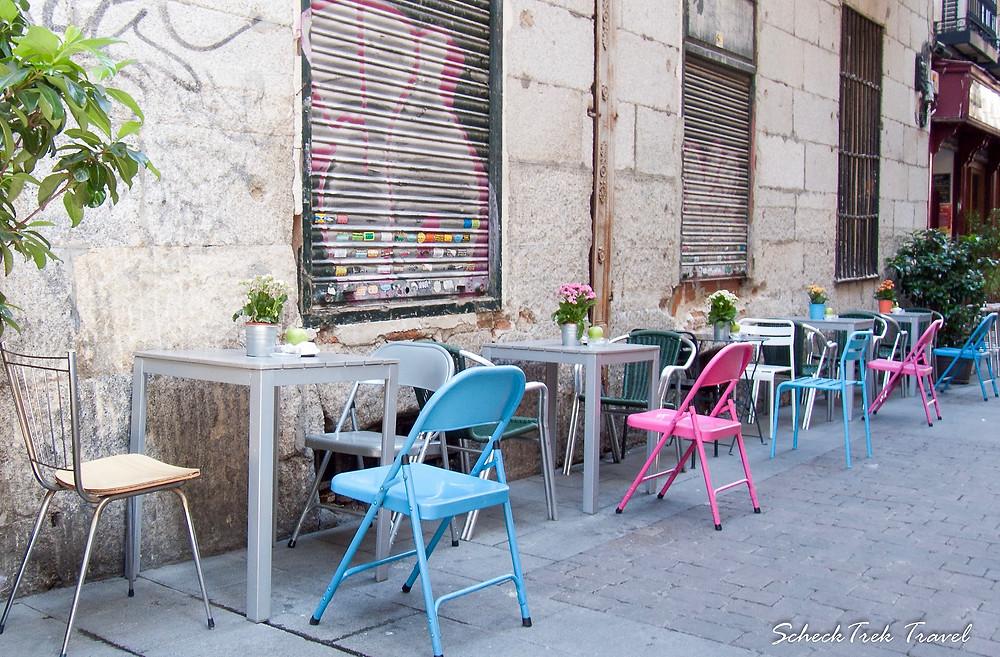 Sidewalk Cafe in Madrid
