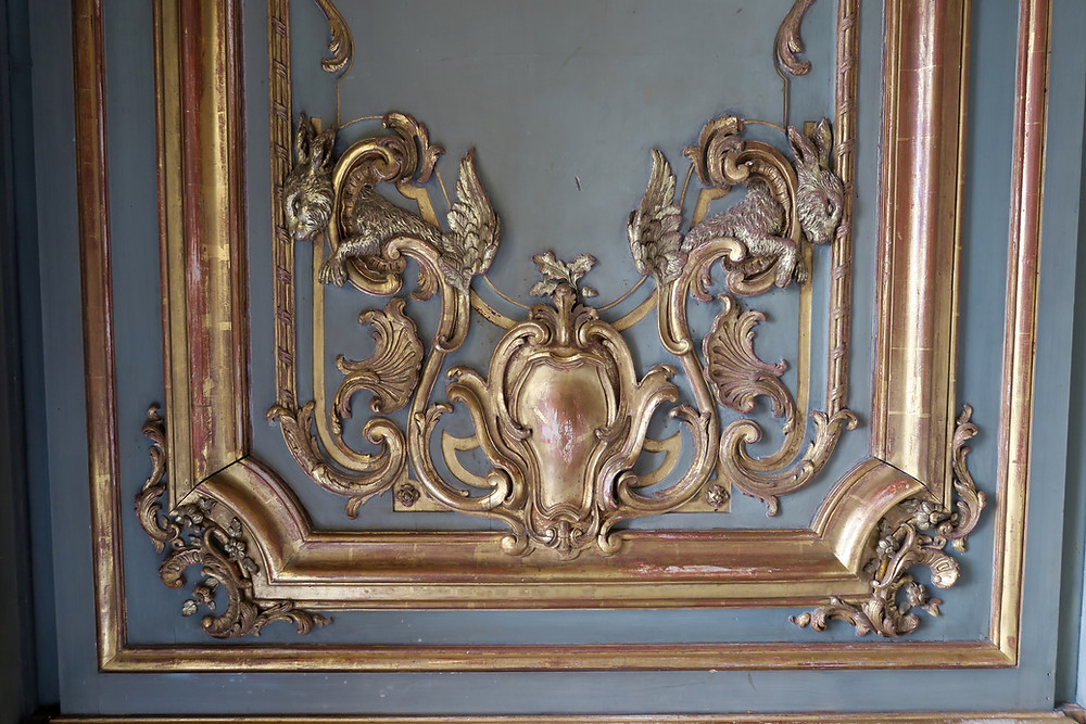Panel detail of French Dining Room at Cliveden