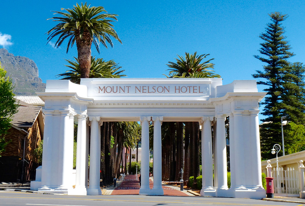 Entry to the Belmond Mount Nelson Hotel, Cape Town