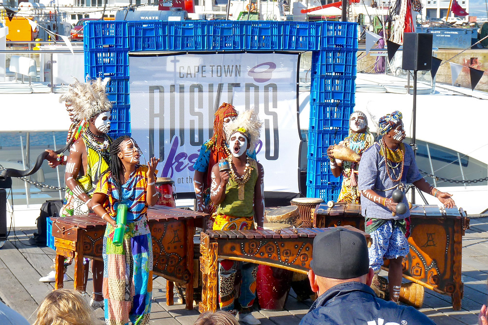 African musicians at the Cape Town Waterfront