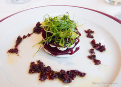 Beet Root and Garlic Goat Cheese