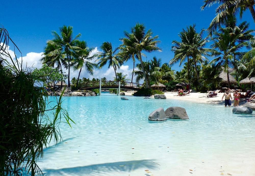 Tropical pool at the Tahiti InterContinental