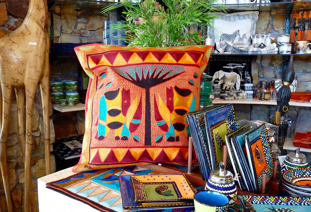 Hand-crafted items at gift shop at Cape Point, South Africa