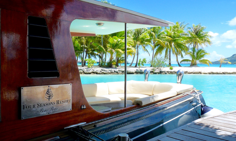 Vintage wooden yacht, Four Seasons Bora Bora