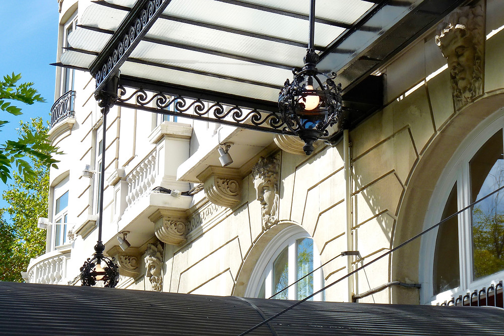 Architectural detail of the Ritz Madrid