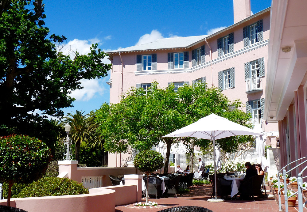 A terrace restaurant at the Belmond Mount Nelson, Cape Town