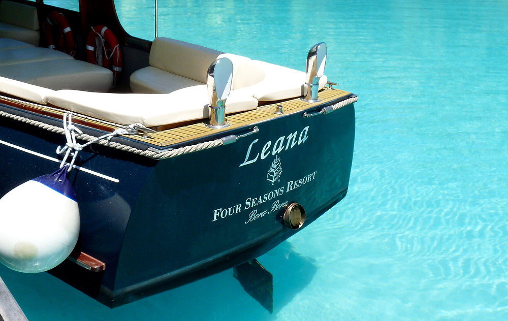 Vintage wooden yacht, Four Seasons Bora Bora