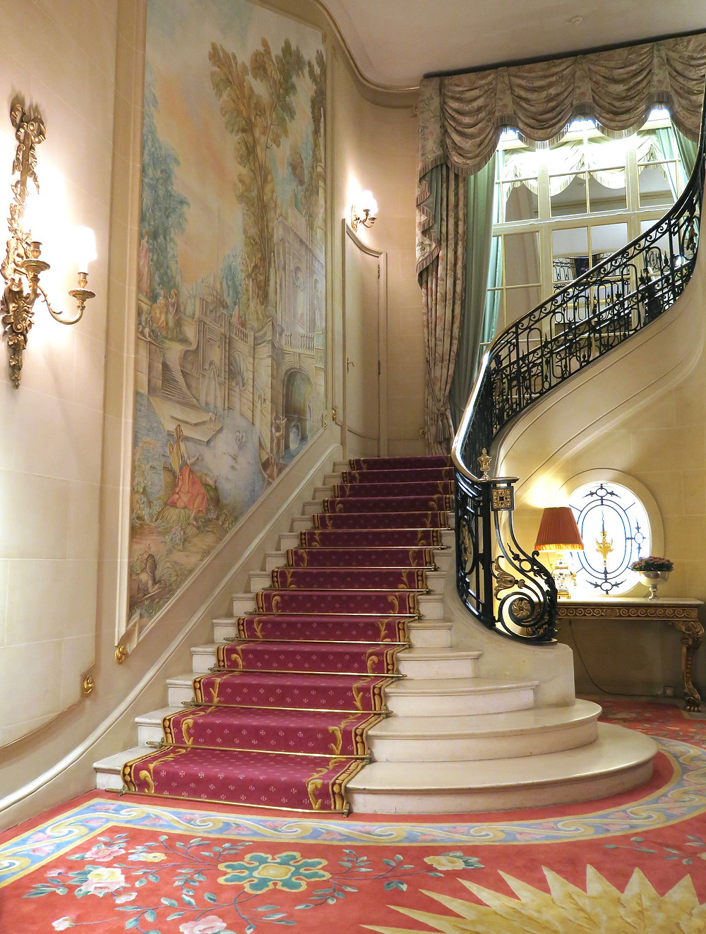 Staircase in the lobby of The Ritz London