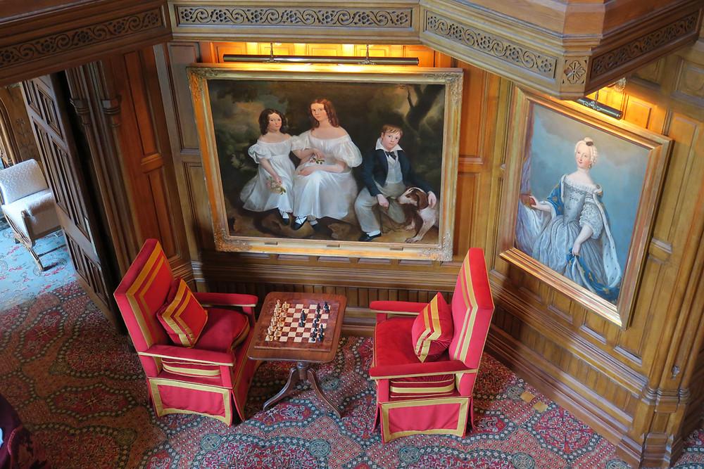 Oak Hall chess table at Ashford Castle