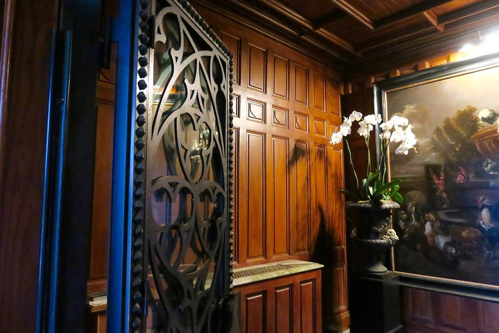 Entry vestibule at Ashford Castle